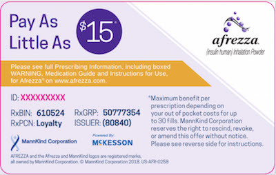 Afrezza Savings Card 2018